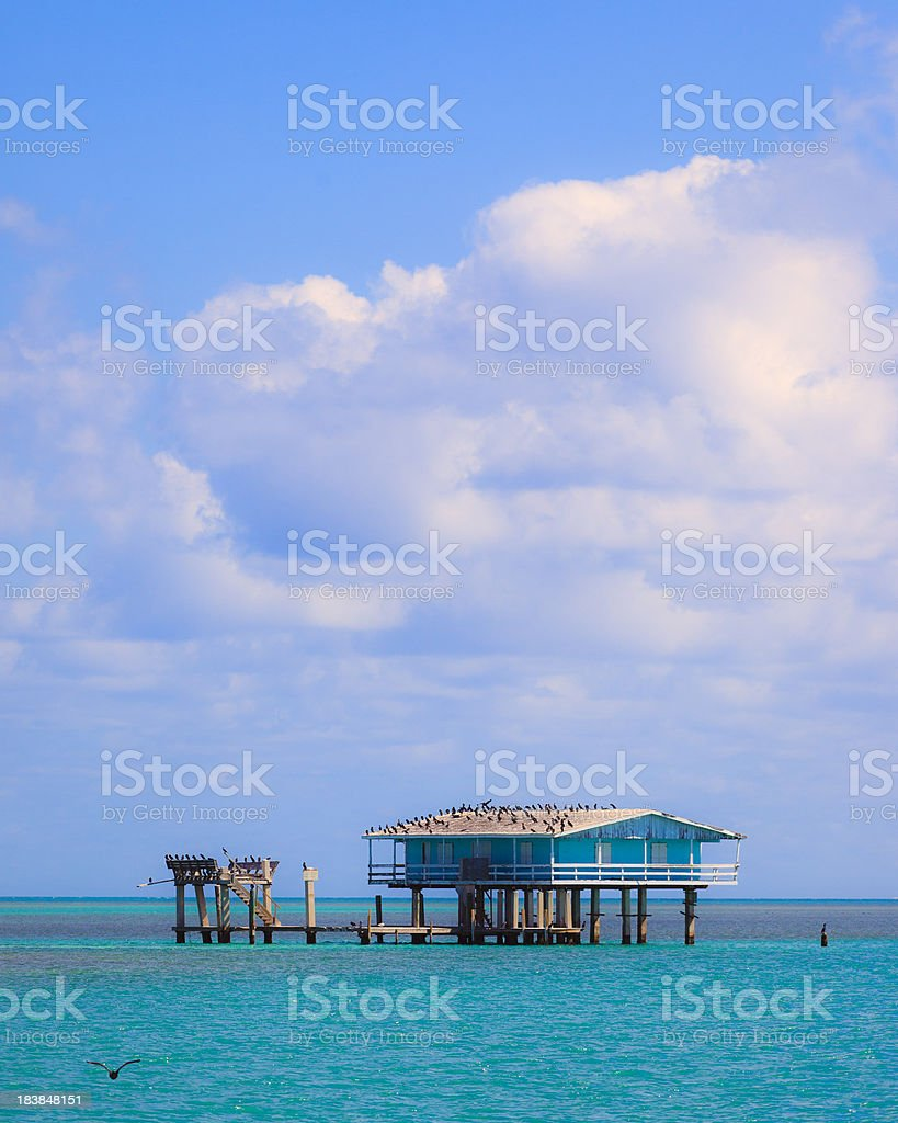 Stilt house in biscayne park, miami stock photo