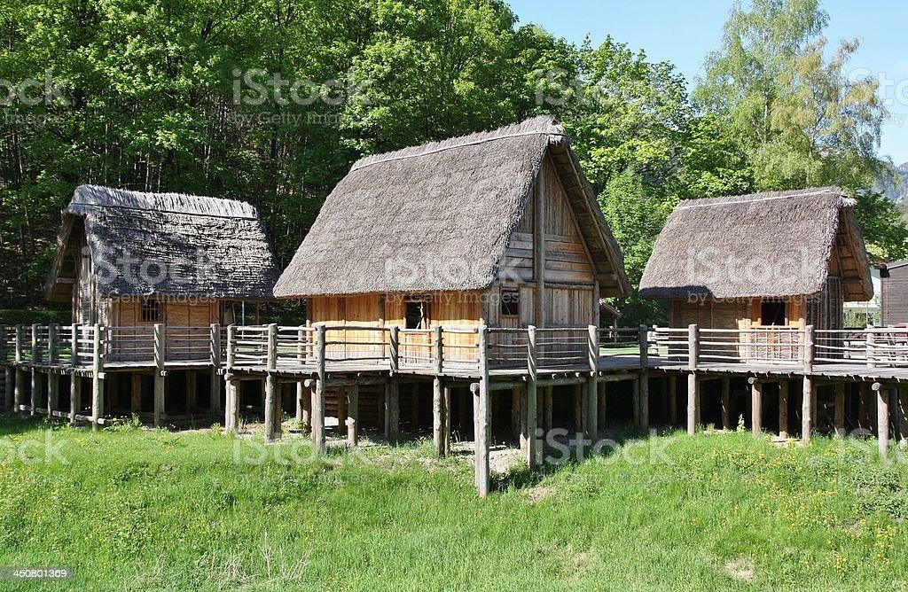 Stilt House in Italy stock photo