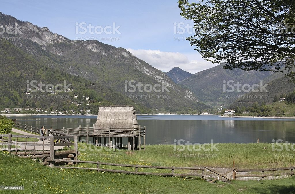 Stilt House in Italy royalty-free stock photo