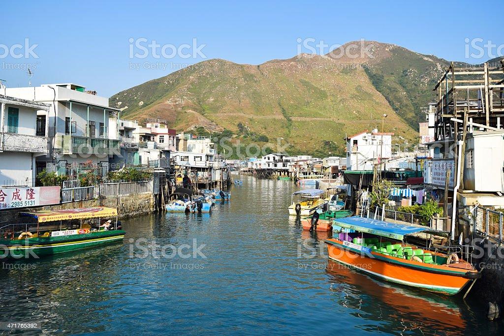 stilt houses Tai O Lantau island Hong Kong stock photo