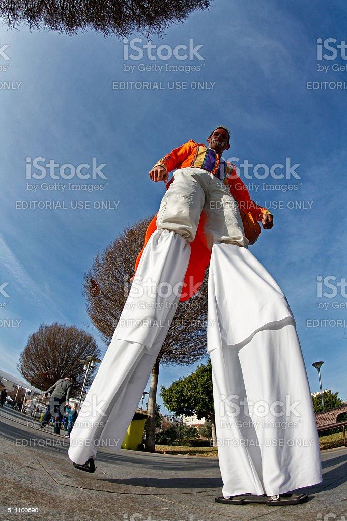 Stilt man stock photo
