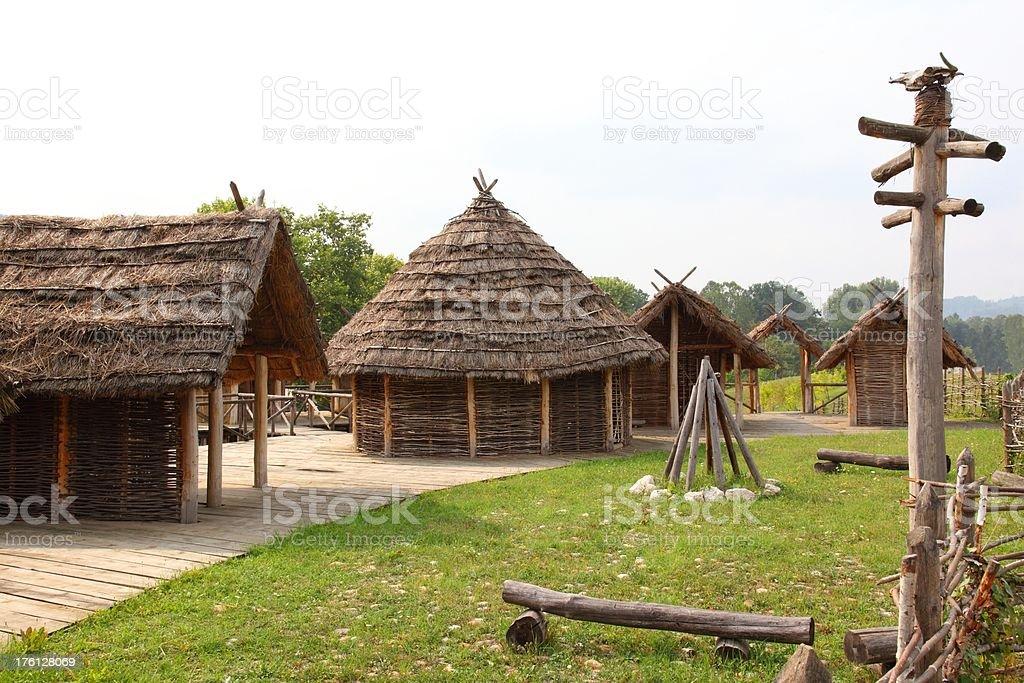 Stilt village stock photo