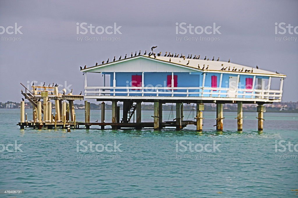 Stiltsville, Florida stock photo