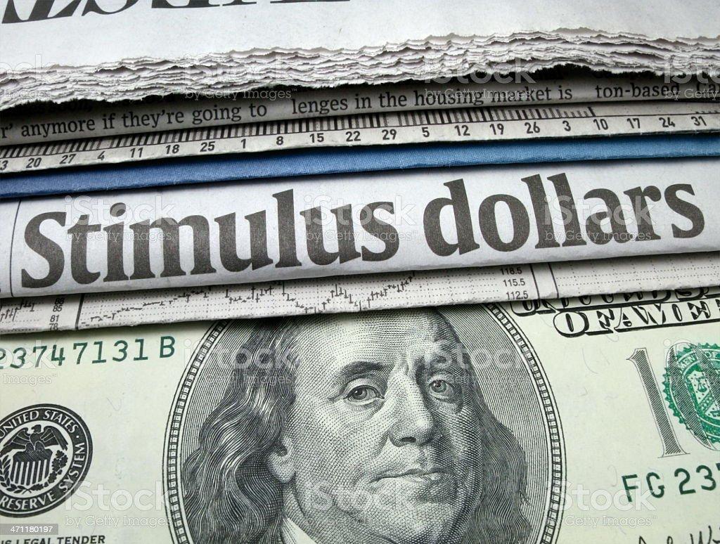Stimulus Dollars stock photo