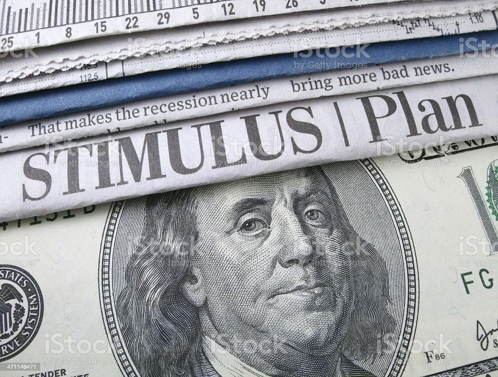 Stimulus Plan Headline stock photo