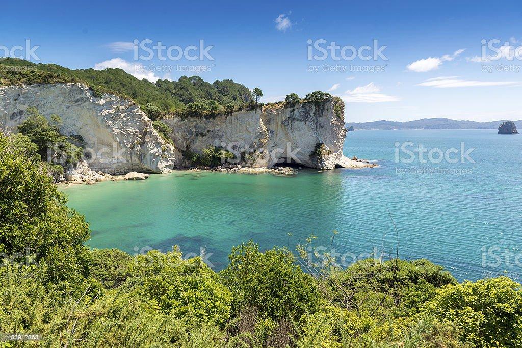 Stingray Bay Coromandel Peninsula, New Zealand. stock photo