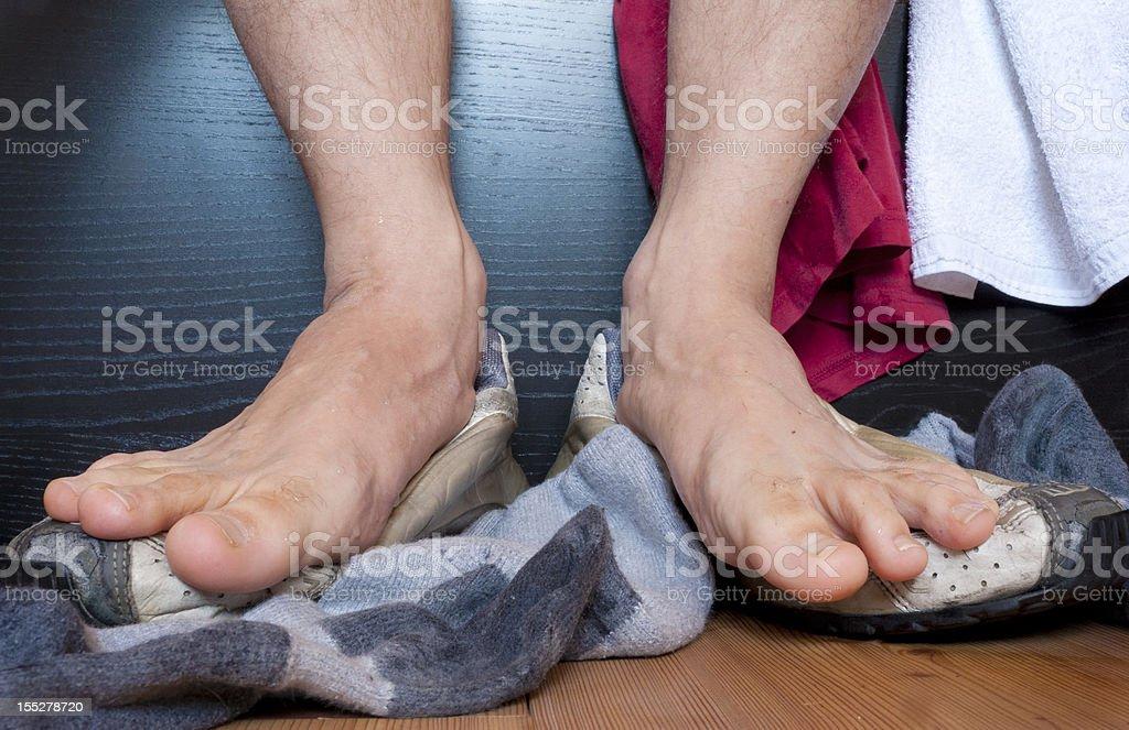 Stinky feet stock photo