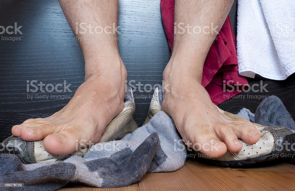 Stinky feet stock photo