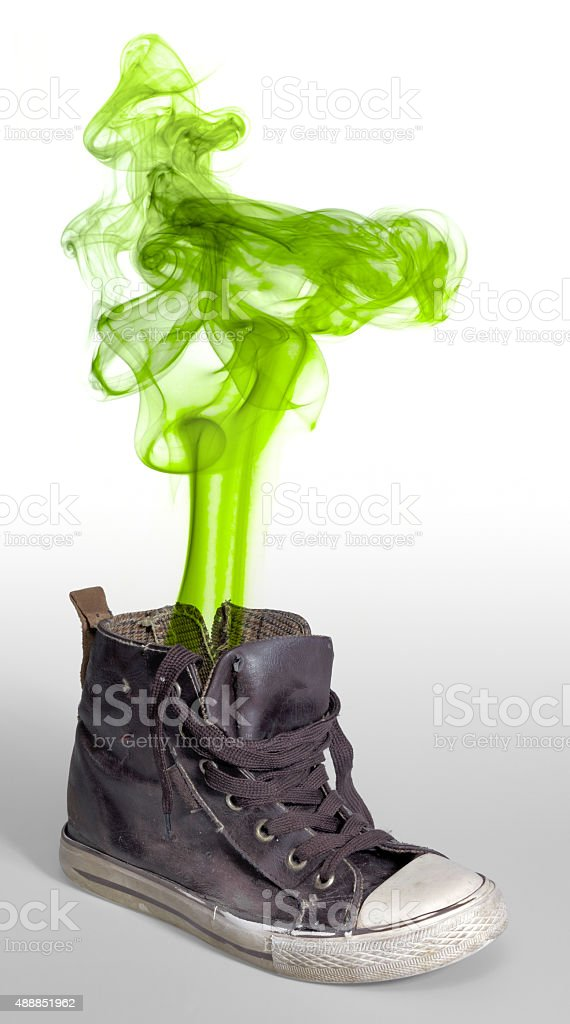 stinky sneaker stock photo