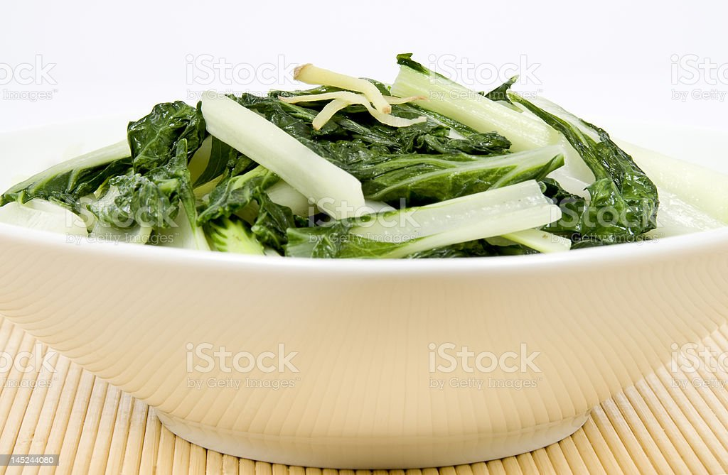 Stir Fried Asian Vegetable (Bok Choy) stock photo