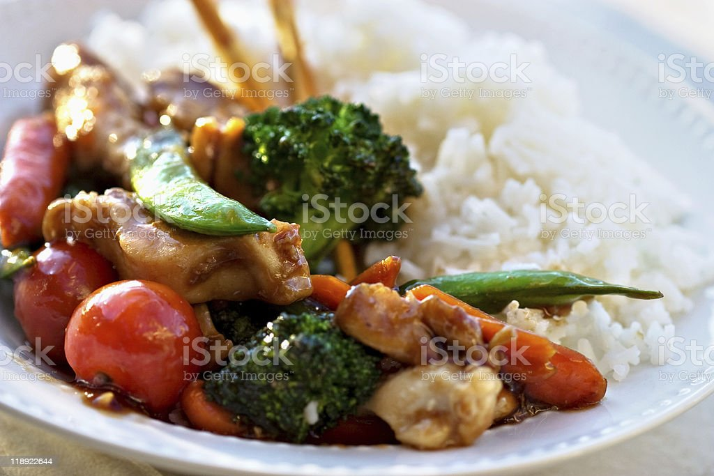 Stir Fried Chicken and Vegetables royalty-free stock photo