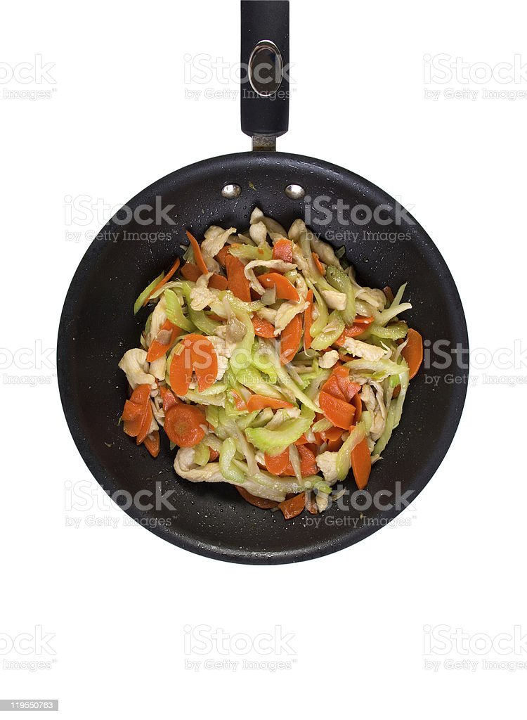 Stir Fried Chicken royalty-free stock photo
