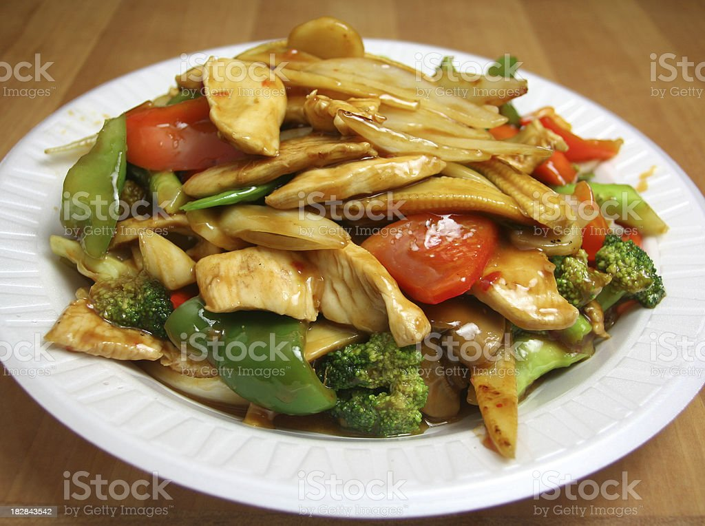 Stir Fried Chicken stock photo