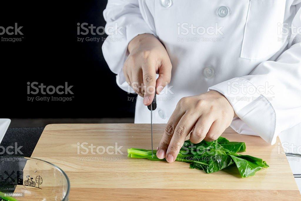 stir fried chinese kale stock photo