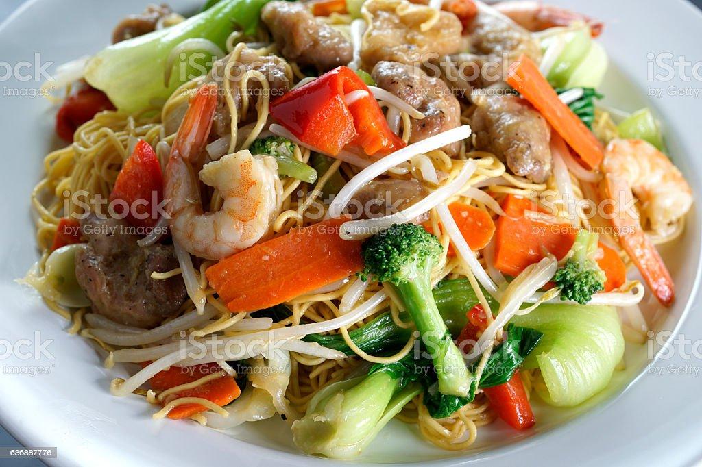 Stir Fried Chow Mein stock photo