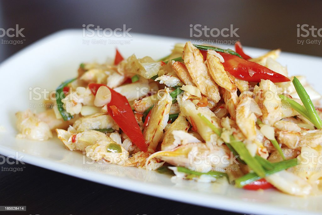 stir fried crab meat royalty-free stock photo