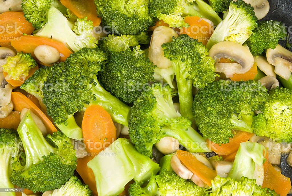 Stir Fried Mixed Vegetables royalty-free stock photo