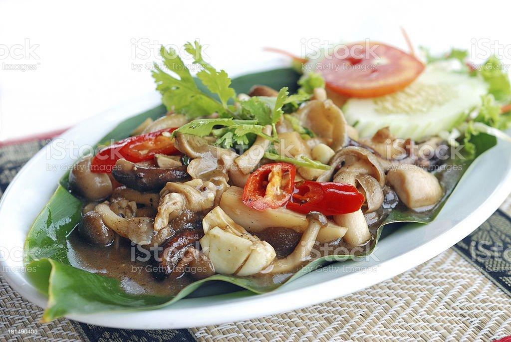 stir fried mushroom royalty-free stock photo