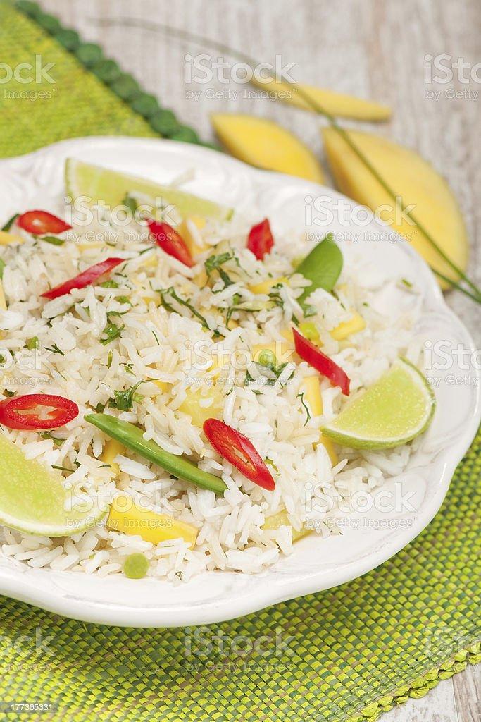 Mexa arroz frito foto royalty-free