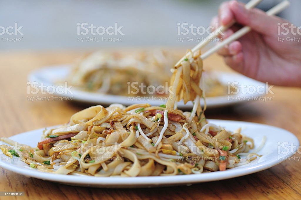 stir fried rice vermicelli royalty-free stock photo