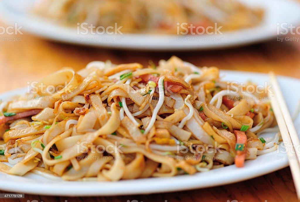 stir fried rice vermicelli royalty-free stock photo