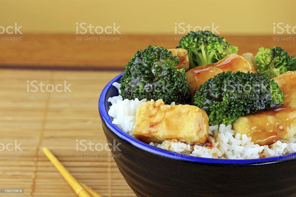 Stir Fried Tofu and Broccoli stock photo