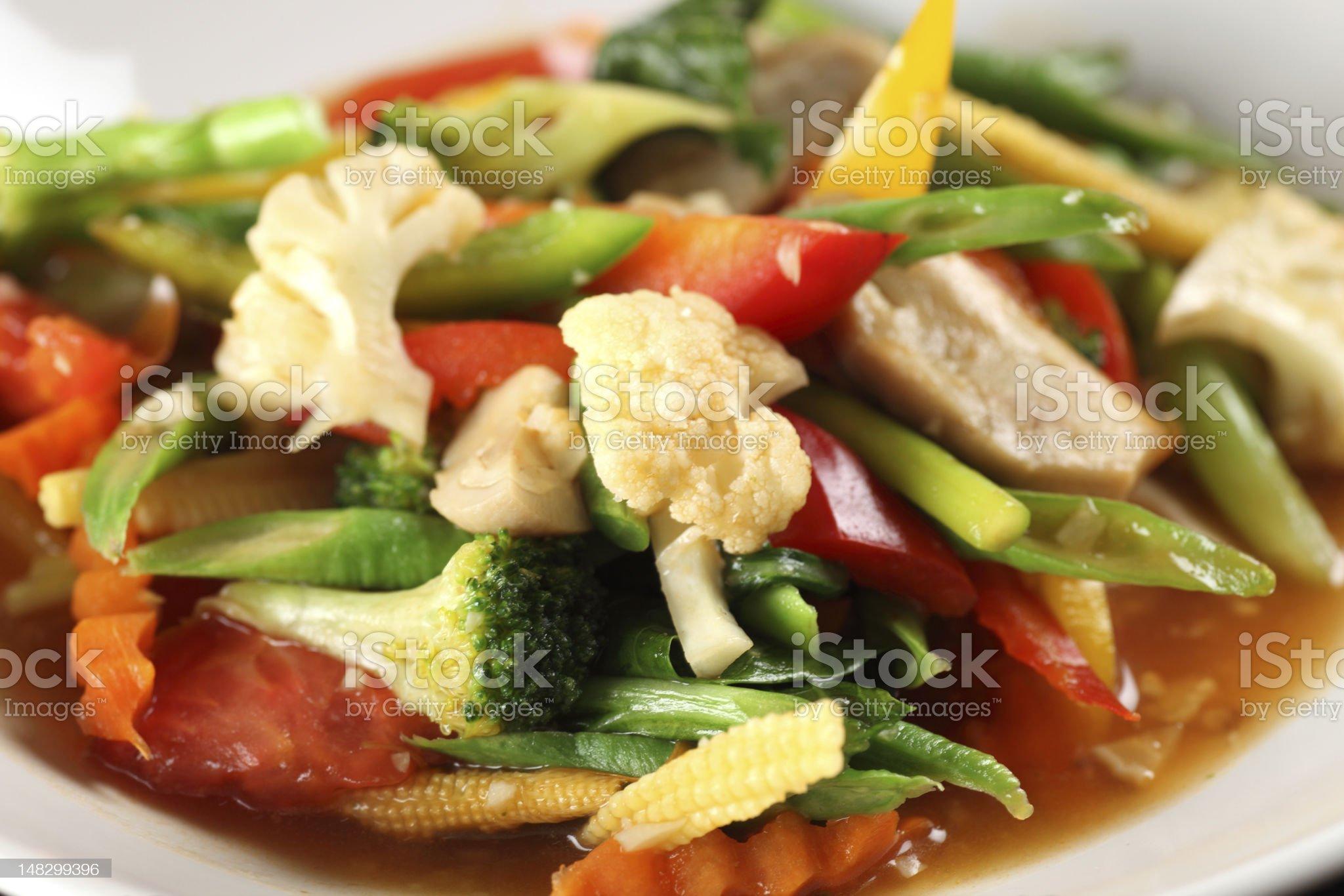 Stir Fried Vegetables royalty-free stock photo