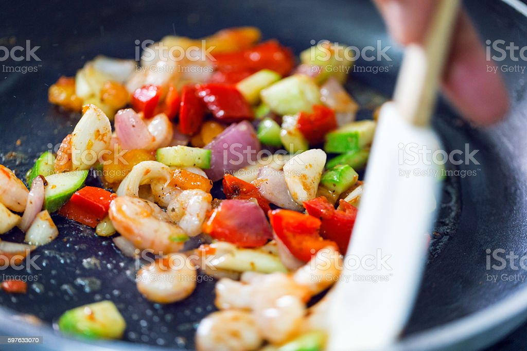 Stir fry meal stock photo