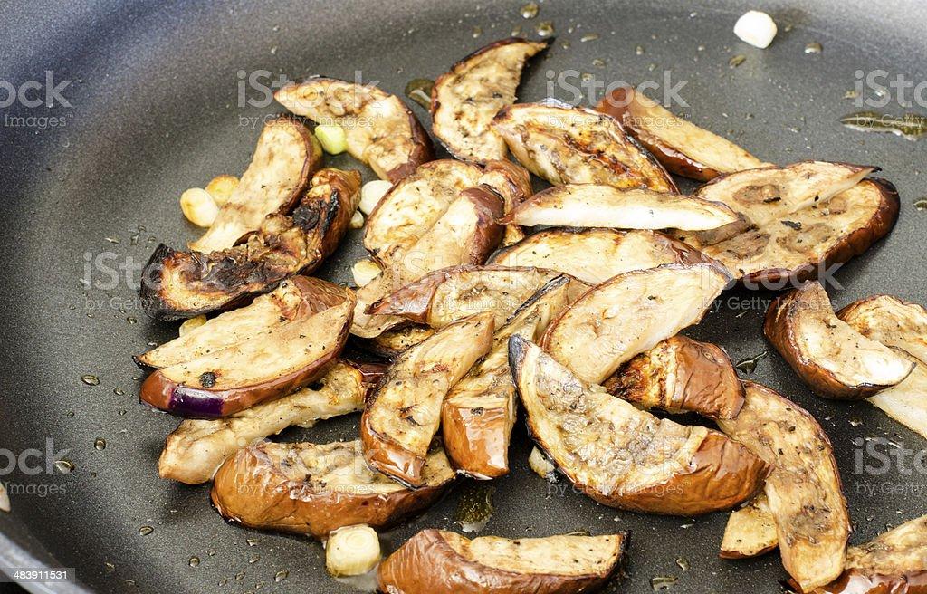 Stir-Fried Asian Eggplant stock photo