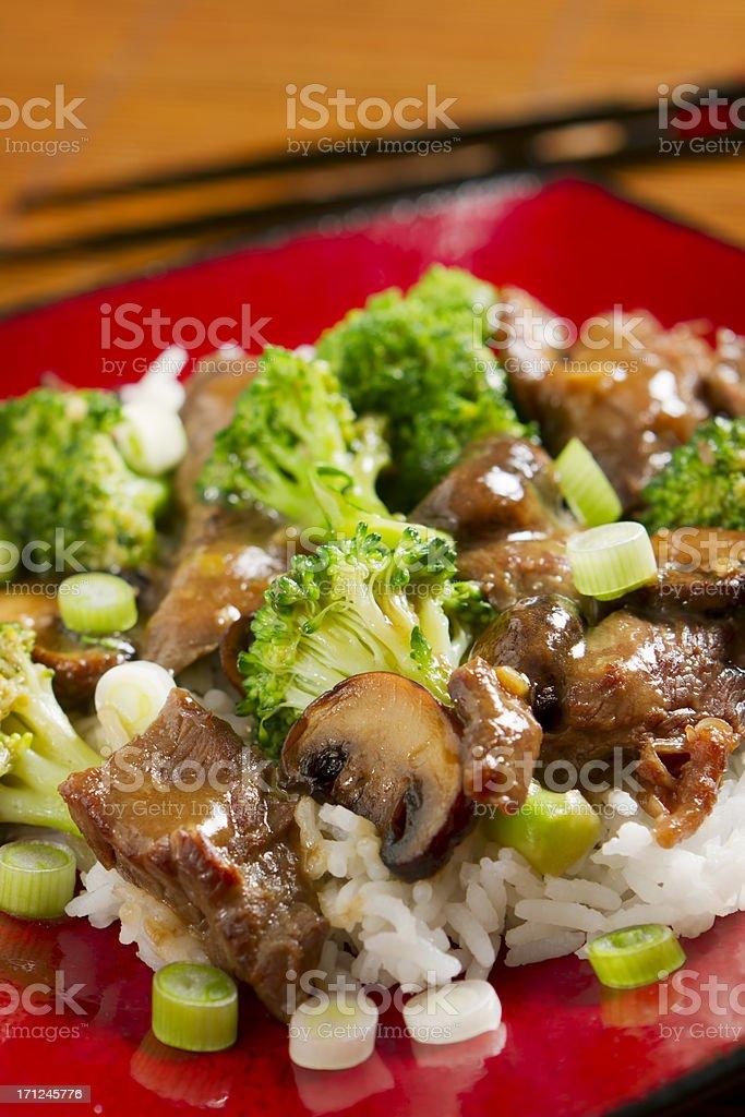 Stir-fried Beef and Brocolli royalty-free stock photo