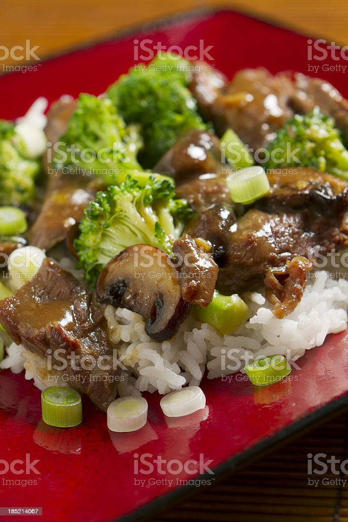 Stir-fried Beef and Brocolli royalty-free stock photo