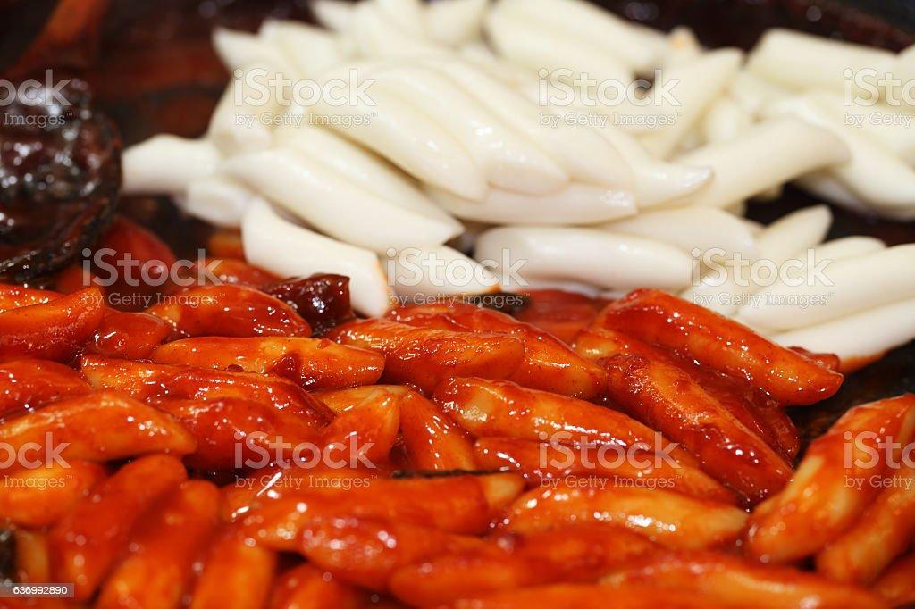 stir-fried Rice Cake stock photo