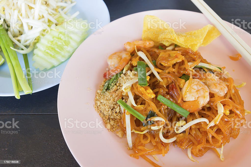 stir-fried rice noodles (Pad Thai) royalty-free stock photo