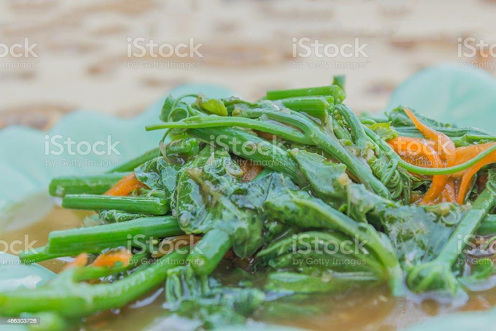 Stir-Fried Sayate Wish Salted Soya Bean stock photo