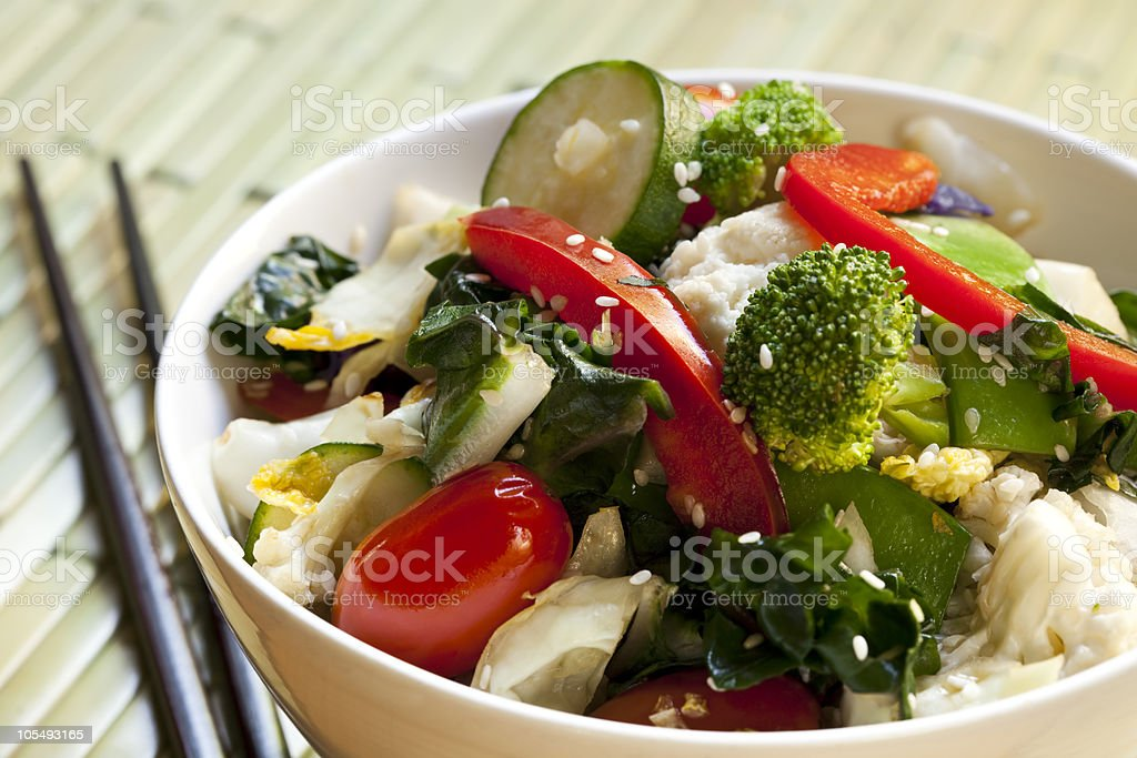 Stir-Fried Vegetables royalty-free stock photo