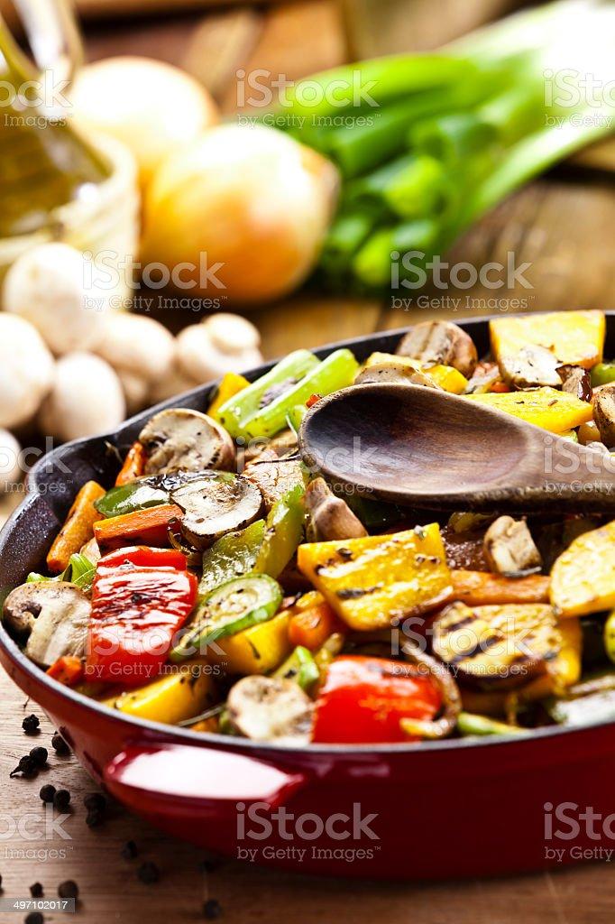 Stir-Fried Vegetables royalty-free stock photo