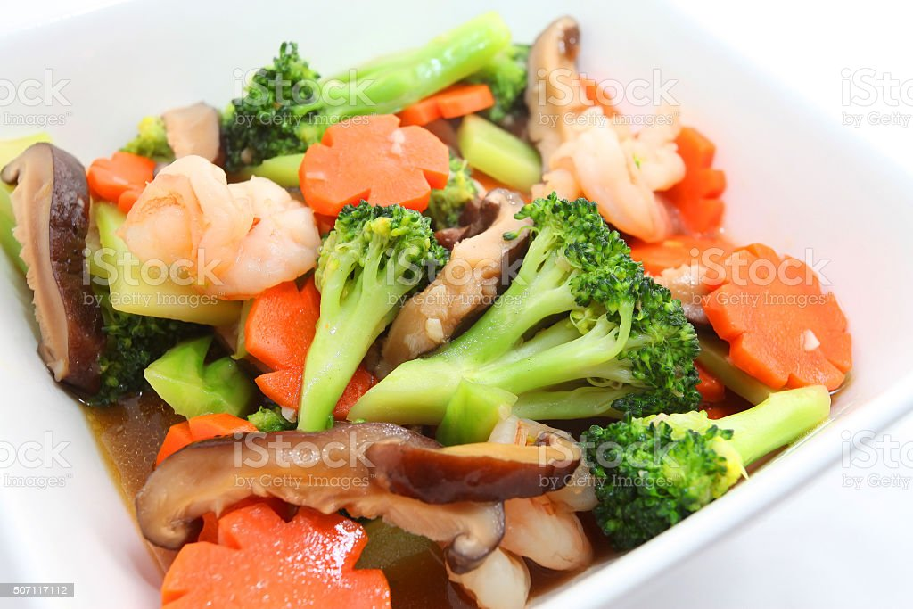 Stirfry mixed vegetables stock photo
