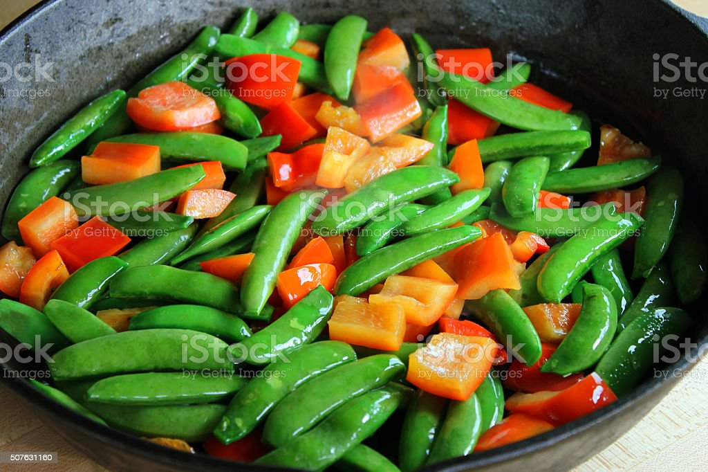 Stir-fry stock photo