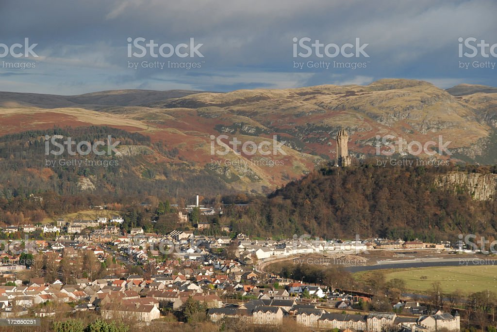 Stirling and Wallace Monument stock photo