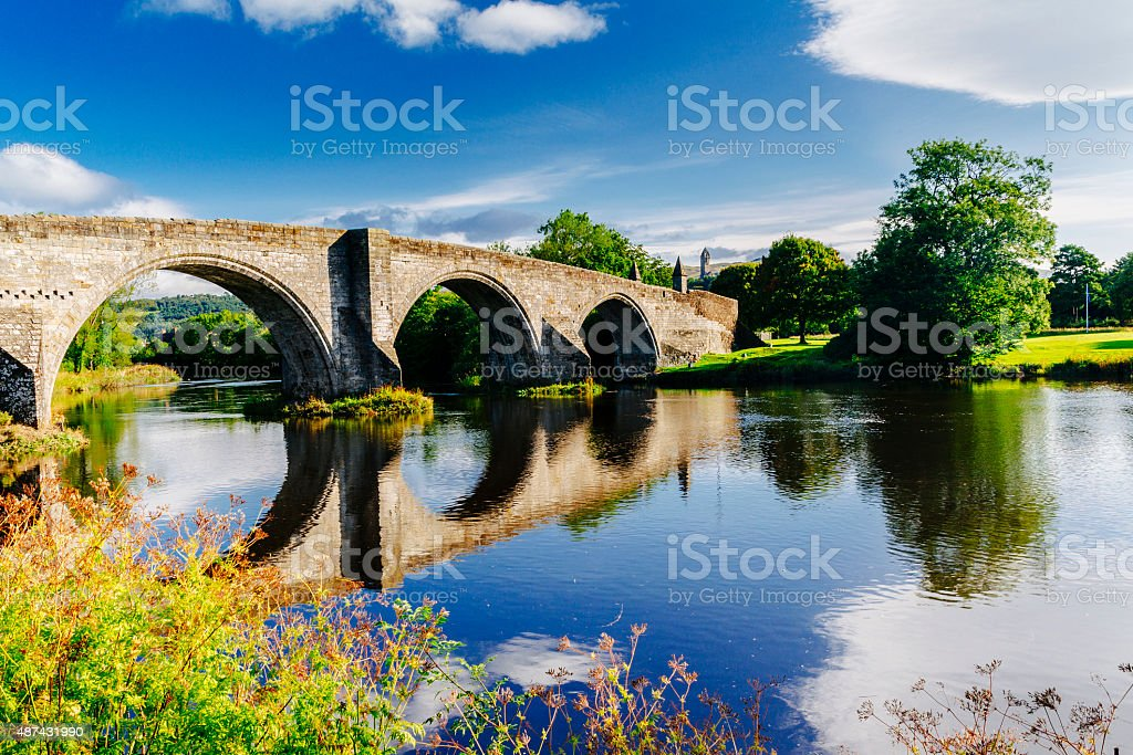 Stirling Bridge, Scotland stock photo