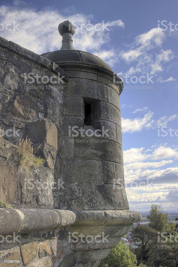 Stirling Castle Gun Turret royalty-free stock photo