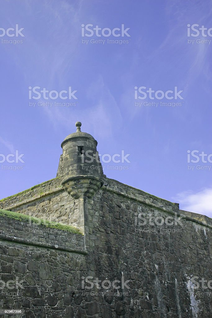 Stirling Castle in Scotland stock photo