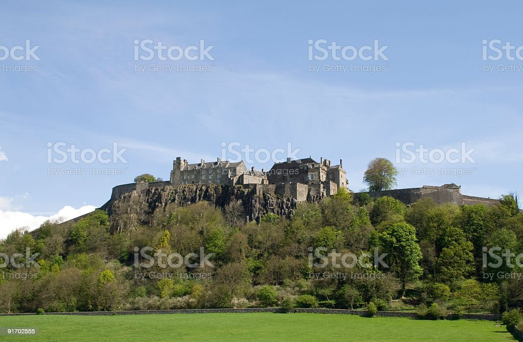 Stirling Castle, Scotland on a summer day. stock photo