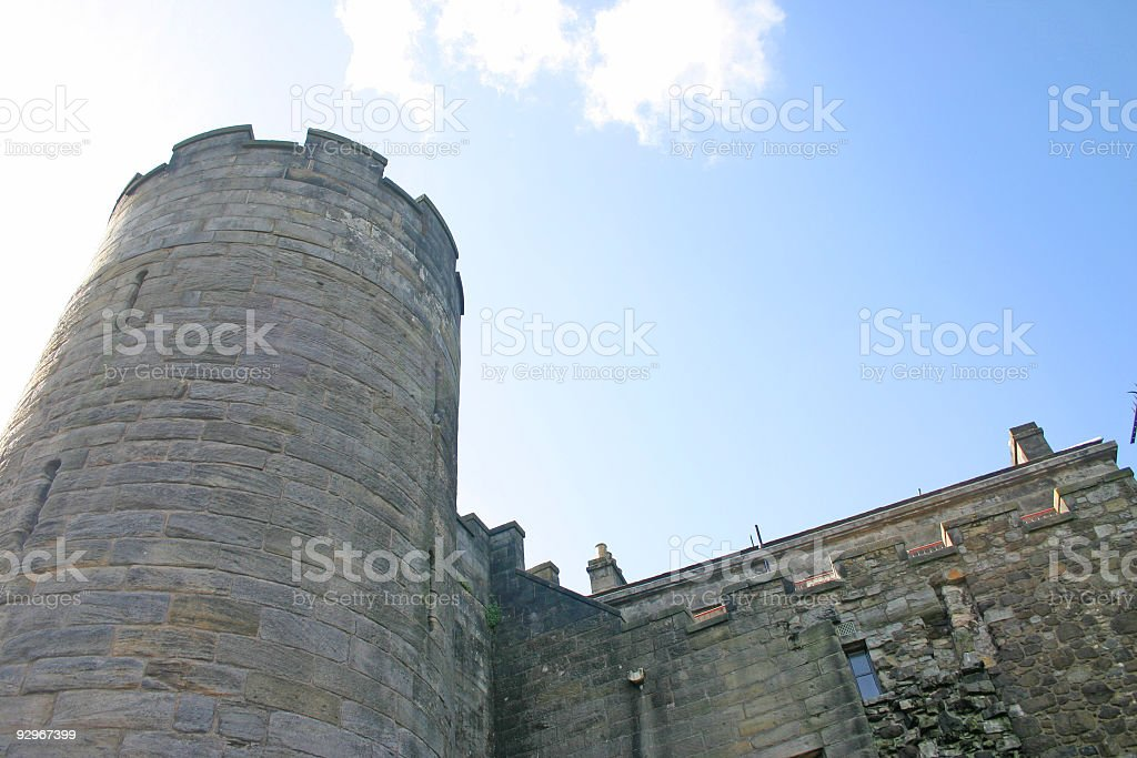 Stirling Castle Tower in Scotland stock photo