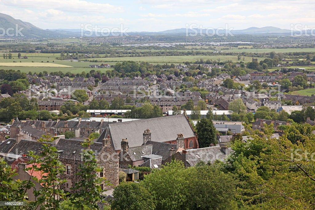Stirling city in Stirlingshire, Scotland, UK stock photo