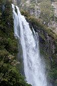 Stirling Falls , Milford Sound, Fiordland, New Zealand