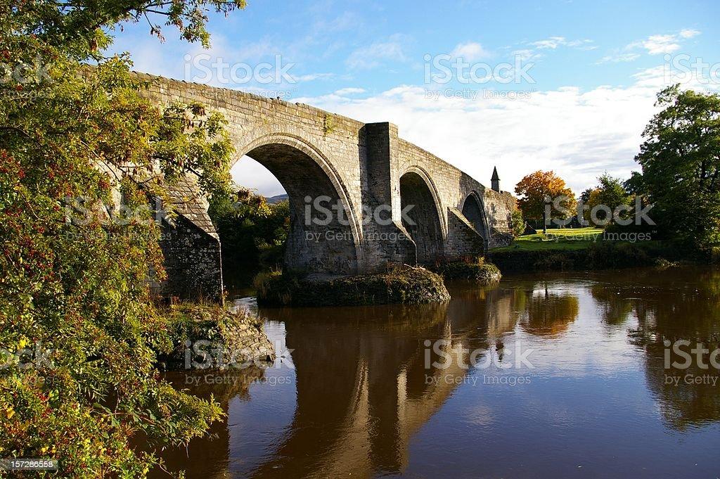 Stirling old bridge stock photo