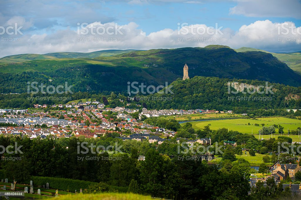 Stirling, Scotland and the William Wallace Monument stock photo