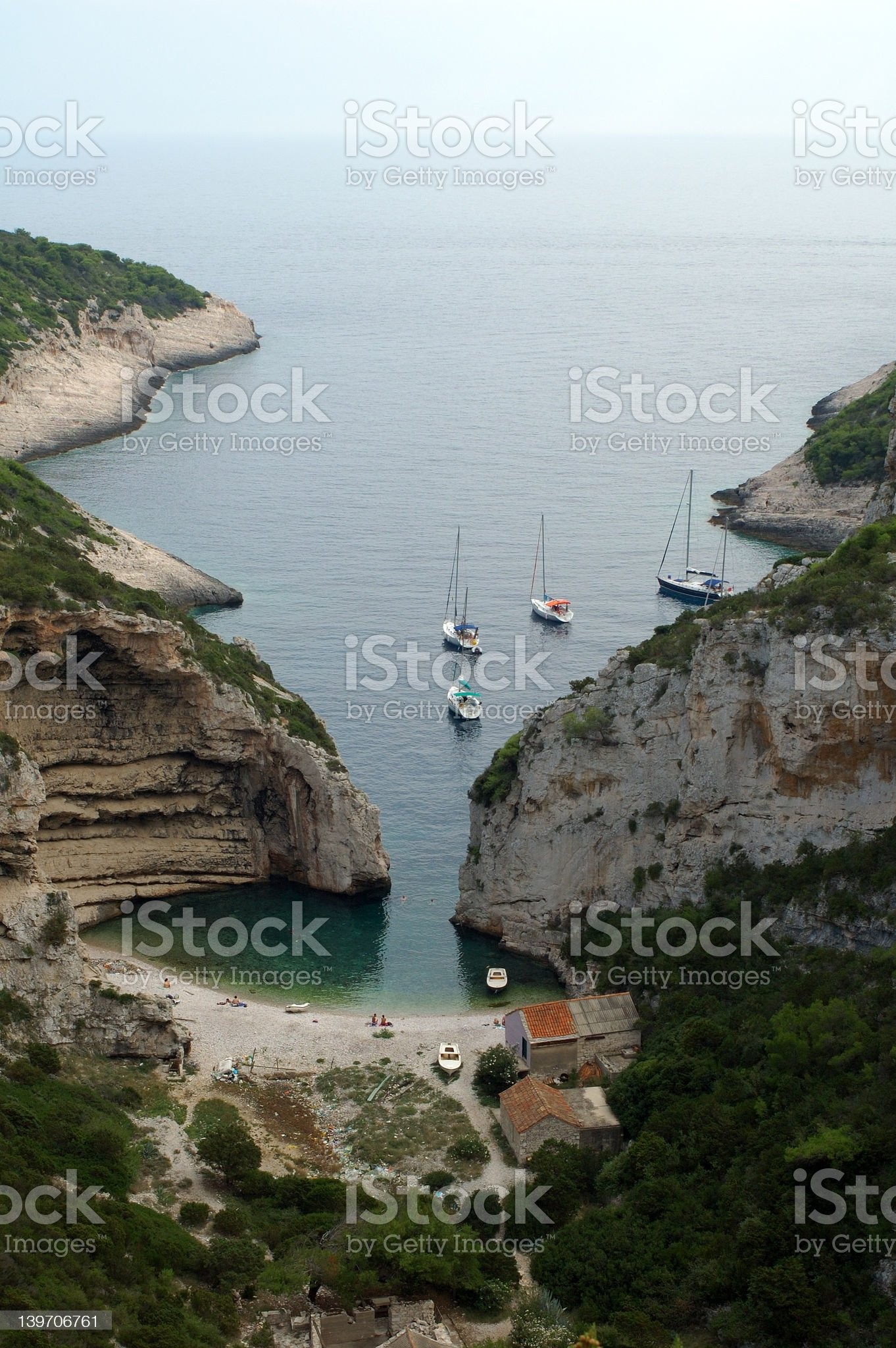 Stirna Luka cove, Croatia royalty-free stock photo