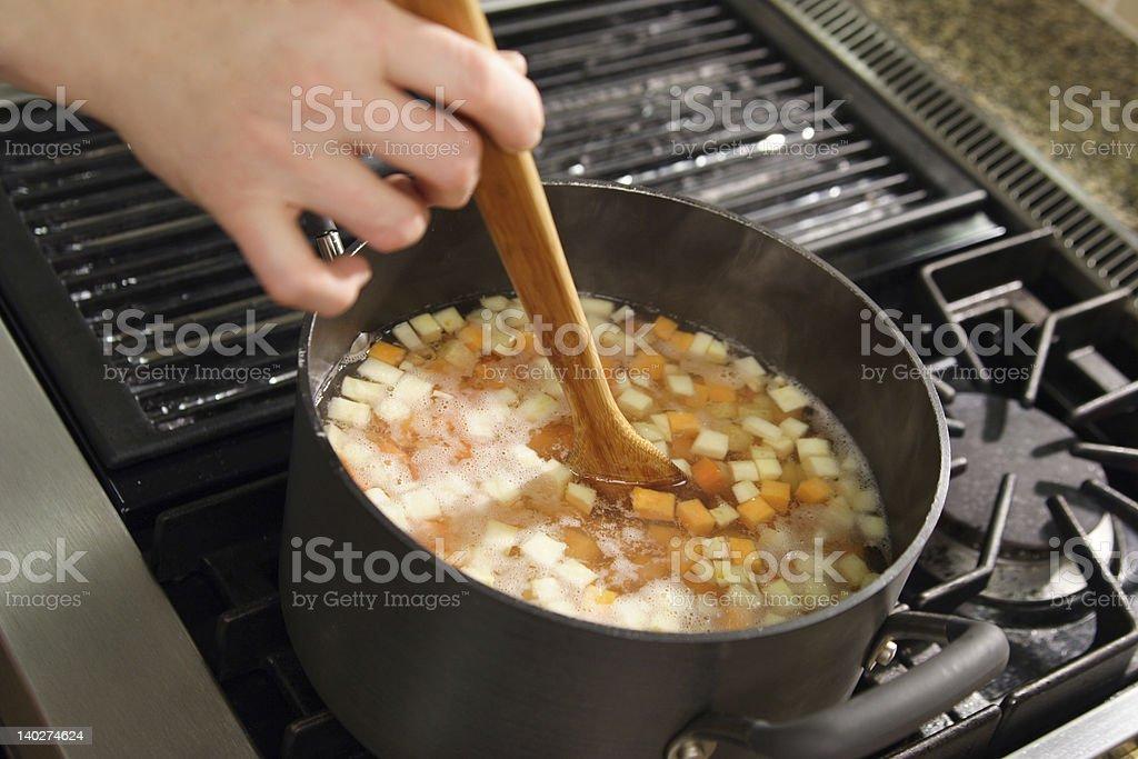 Stirring up Dinner royalty-free stock photo
